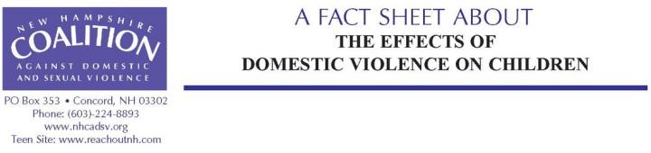 DV Children Fact Sheet