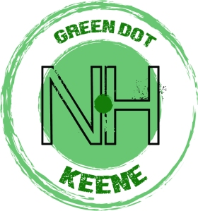 Keene Green dot LOGO