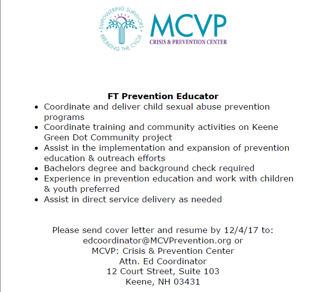 FT Prevention Educator